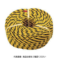 トラスコ中山 TRUSCO 標識ロープ 3つ打 線径10mmX長さ200m R12200T 1巻 276ー7546 (直送品)