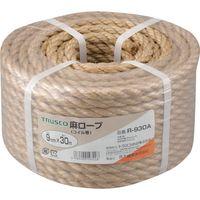 トラスコ中山 TRUSCO 麻ロープ 3つ打 線径9mmX長さ30m R930A 1巻 511ー3351 (直送品)