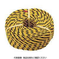 トラスコ中山 TRUSCO 標識ロープ 3つ打 線径10mmX長さ100m R12100T 1巻 511ー3393 (直送品)