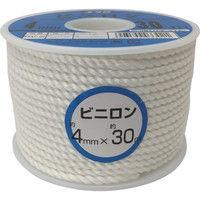 ユタカメイク ユタカ ロープ ビニロンロープボビン巻 4φ×30m RV2 1巻 367ー6854 (直送品)