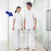 KAZEN タップレディス医務衣(ケーシージャケット) 半袖 ホワイト M AKL360-30