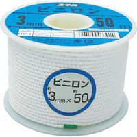 ユタカメイク ユタカ ロープ ビニロンロープボビン巻 3φ×50m RV1 1巻 367ー6838 (直送品)
