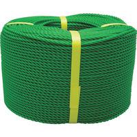 ユタカメイク(Yutaka) ロープ PEロープ巻物 3φ×200m グリーン PE-73 1巻 367-6382 (直送品)