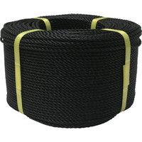 ユタカメイク(Yutaka) ロープ PEロープ巻物 3φ×200m ブラック PE-74 1巻 367-6391 (直送品)