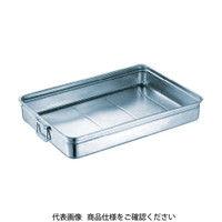 スギコ産業(SUGICO) 18-8ステンレス番重バット 中浅型 手付 470x350x80 SH-4735-08H 1枚 332-0472 (直送品)
