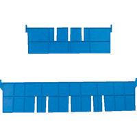 DICプラスチック DIC F型コンテナFー8用長手仕切板:365×88 黄 F8L 1枚 501ー1515 (直送品)