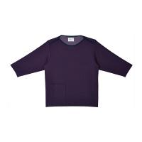 トンボ キラク 検診用シャツ(男女兼用) CR838 バイオレット L 検診用ウェア(患者衣・検査衣・検査着) 1枚 (取寄品)