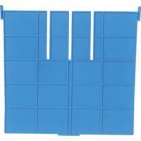 DICプラスチック DIC F型コンテナFー21用長手仕切板:365×230 青 F21L 1枚 501ー1833 (直送品)
