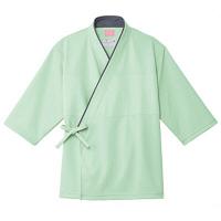 トンボ キラク 検診用甚平(男女兼用) CR848 グリーン L 検診用ウェア(患者衣・検査衣・検査着) 1枚 (取寄品)