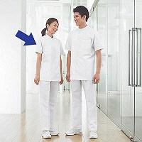 タップ レディス医務衣(ケーシージャケット) 半袖 AKL360 ホワイト L