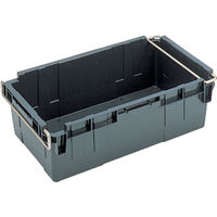 岐阜プラスチック工業 リス HB型コンテナーHBー56 グレー HB56 1個 503ー6950 (直送品)