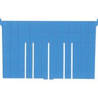 DICプラスチック DIC F型コンテナFー21用短手仕切板:243×230 青 F21S 1枚 501ー1817 (直送品)