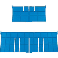 DICプラスチック DIC F型コンテナFー12用短手用仕切板 外寸:243×136 青 F12S 1枚 501ー1523 (直送品)