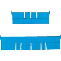 DICプラスチック DIC F型コンテナFー4用短手仕切板:243×42 黄 F4S 1枚 501ー1451 (直送品)
