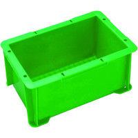 三菱樹脂 ヒシ S型コンテナ 緑 S4 1個 503ー7328 (直送品)
