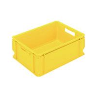 三菱樹脂 ヒシ S型コンテナ(把手穴付) 黄 S40 1個 504ー7480 (直送品)