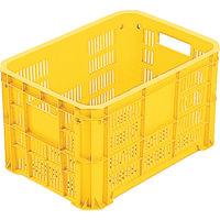 岐阜プラスチック工業 リス MB型メッシュコンテナーMBー20F 黄 MB20F 1個 504ー1694 (直送品)