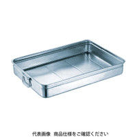 スギコ産業(SUGICO) 18-8ステンレス番重バット 大浅型 手付 550x370x80 SH-5537-08H 1枚 332-0529 (直送品)