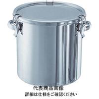 日東金属工業 日東 ステンレスタンク ストレートクリップ式密閉タンク(フタ付) 45L CTH39 1個 500ー5043 (直送品)