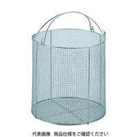 三和 サンワ ステンレス丸型洗浄カゴ 中 SM-20 1個 505-6993 (直送品)