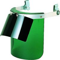 TRUSCO(トラスコ中山) 保護 遮光 ヘルメット取付型防災面 ダブル型 グリーン BMHW 1個 231-6021 (取寄品)