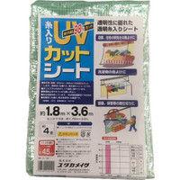 ユタカメイク ユタカ シート UVカット透明糸入りシート 1.8m×3.6m B152 1枚 367ー4932 (直送品)