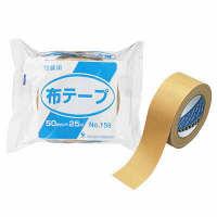 布テープ 0.23mm厚 50mm×25m巻 茶 No.159 寺岡製作所