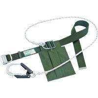 1本吊り(ロープ式) タイタン 胴ベルト型安全帯スライド式バックル グリーン SNH24 1本 120-4742 SANKO(サンコー) (直送品)