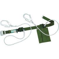 1本吊り スライド式 軽量 タイタン ダブルランヤード式安全帯 グリーン SNH24APWDHGR 255-0466 SANKO(サンコー) (直送品)