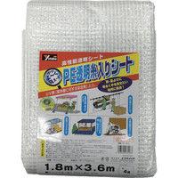 ユタカメイク(Yutaka) シート PE透明糸入りシート(UV剤入) 1.8m×3.6m B310 1枚 367-5025 (直送品)