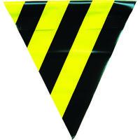 ユタカメイク(Yutaka) 安全表示旗(着脱簡単・トラ模様) AF-1314 1袋(3枚) 351-4455 (直送品)