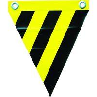 ユタカメイク ユタカ 安全表示旗(ハト目・トラ模様) AF1214 1セット(3枚:3枚入×1袋) 351ー4366 (直送品)