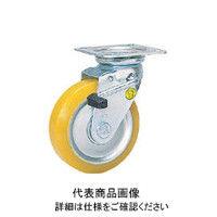 シシクSISIKUアドクライス 静電気帯電防止キャスター 自在ストッパー付 150径 ウレタン車輪 EUWJB-150 1個 353-5096 (直送品)