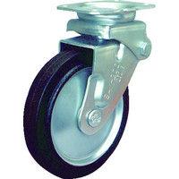 シシクSISIKUアドクライス(株 シシク 緩衝キャスター 固定 ゴム車輪 150径 SAKHO150W 1個 353ー5282 (直送品)