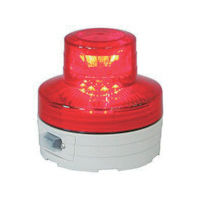 日動工業 電池式LED回転灯ニコUFO 夜間自動点灯タイプ 赤 NU-BR 1台 356-1330 (直送品)