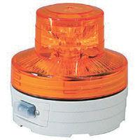 日動工業 日動 電池式LED回転灯ニコUFO 夜間自動点灯タイプ 黄 NUBY 1個 356ー1348 (直送品)