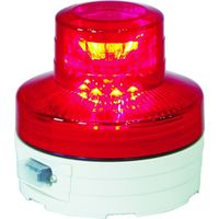 日動工業 日動 電池式LED回転灯ニコUFO 常時点灯タイプ 赤 NUAR 1個 356ー1313 (直送品)