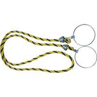 トラスコ中山(TRUSCO) コーン用ロープ 標識 黄×黒 12mmX2m TCC-30 1本(2m) 360-0173 (直送品)