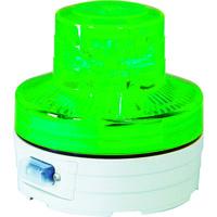 日動工業 日動 電池式LED回転灯 ニコUFO 常時点灯タイプ 緑 NUAG 1個 368ー6493 (直送品)