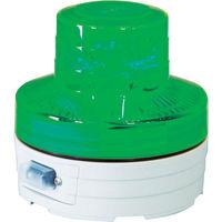 日動工業 日動 電池式LED回転灯 ニコUFO 夜間自動点灯タイプ 緑 NUBG 1個 368ー6515 (直送品)