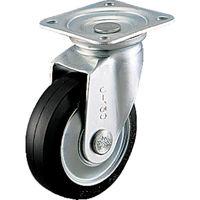 シシクSISIKUアドクライス スタンダードプレスキャスター ゴム車輪 自在 200径 WJ-200 1個 505-7230 (直送品)