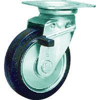 シシクSISIKUアドクライス(株 シシク スタンダードプレスキャスター ゴム車輪自在ストッパー付 100径 WJB100 1個 505ー7175 (直送品)