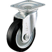 シシクSISIKUアドクライス(株 シシク スタンダードプレスキャスター ゴム車輪自在 100径 WJ100 1個 505ー7213 (直送品)