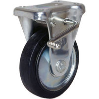 シシクSISIKUアドクライス シシク スタンダードプレスキャスター ゴム車輪 固定ストッパー付 75径 WKB-75 1個 353-5606(直送品)