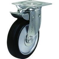 シシクSISIKUアドクライス(株 シシク 自在⇔固定切換キャスター ゴム車輪150径 NJK150W 1個 353ー5762 (直送品)