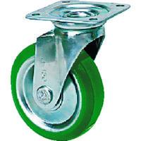 シシクSISIKUアドクライス シシク スタンダードプレスキャスター ウレタン車輪 自在 100径 UWJ-100 1個 505-7221(直送品)