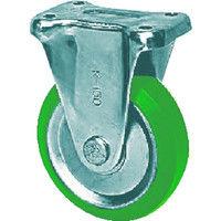 シシクSISIKUアドクライス シシク スタンダードプレスキャスター ウレタン車輪 固定 100径 UWK-100 1個 505-7264(直送品)