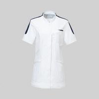 トンボ トンボメディカル レディスチュニック CM027 ホワイト L 医療白衣 1枚 (取寄品)