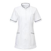 トンボ トンボメディカル レディスチュニック CM028 ホワイト L 医療白衣 1枚 (取寄品)