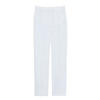 トンボ トンボメディカル マタニティパンツ CM550 ホワイト L 医療白衣 1枚 (取寄品)